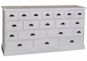 Meuble à Tiroir : acheter votre meuble de m tier en pin massif gris ~ Edinachiropracticcenter.com Idées de Décoration