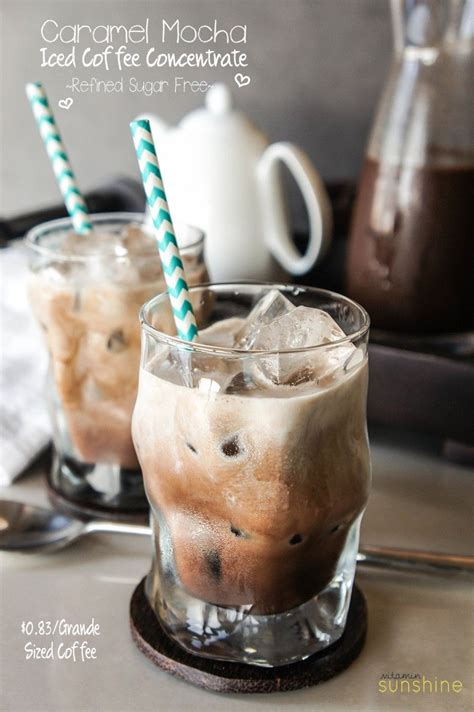 Salted Caramel Mocha Coffee Concentrate Recipe Drinks