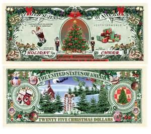 holiday cheer 25 dollar bills stocking stuffers christmas gifts