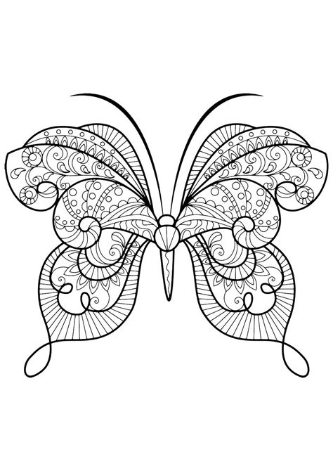 Kleurplaat Mariposa by Butterfly Coloring Book Coloring Insect Coloring
