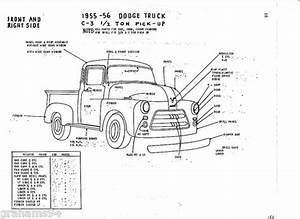 Details About 1955 56 Dodge C 2 Ton Pickup Nos Body