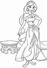 Jasmine Coloring Princess Disney Pages Walt Characters Fanpop sketch template