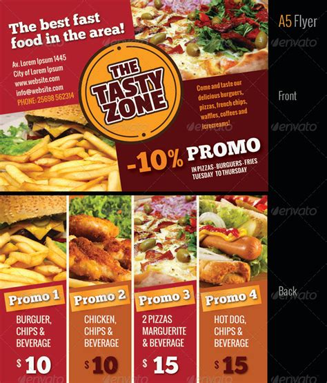 poster cuisine a4 fast food menu poster flyer cards by