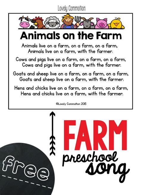 farm preschool song freebie farming songs and printing 641 | beb0de6dd3151abd39e897185a85a6cf