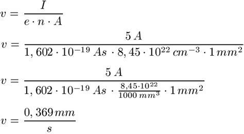 geschwindigkeit elektronen berechnen