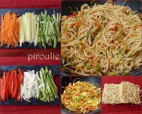 cuisiner des pates chinoises nouilles asiatiques 2 versions végétariennes ou au