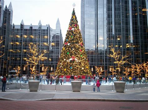 christmas pittsburgh pa christmas tree in downtown