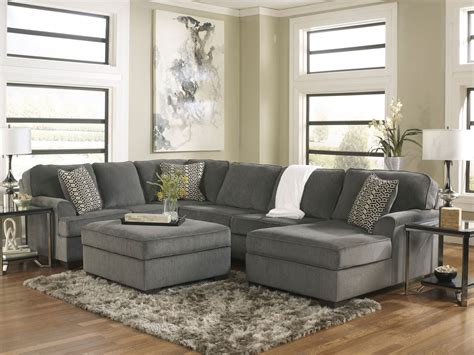 sectional living room sets sole oversized modern gray fabric sofa sectional set