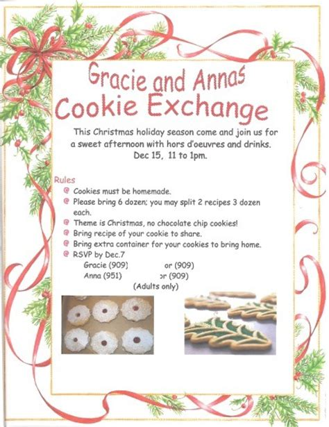 cookie exchange rules gracie and s 1st cookie exchange