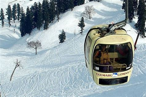 cable car ride  kashmirs gulmarg ended