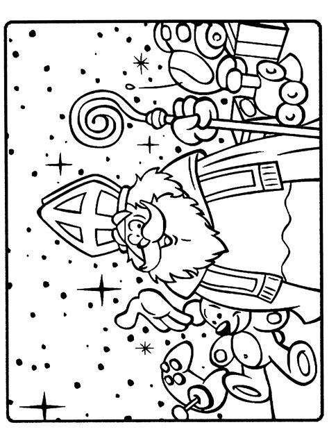 Kleurplaat Sinterklaas by Sinterklaas Is Jarig Kleurplaat Sinterklaas