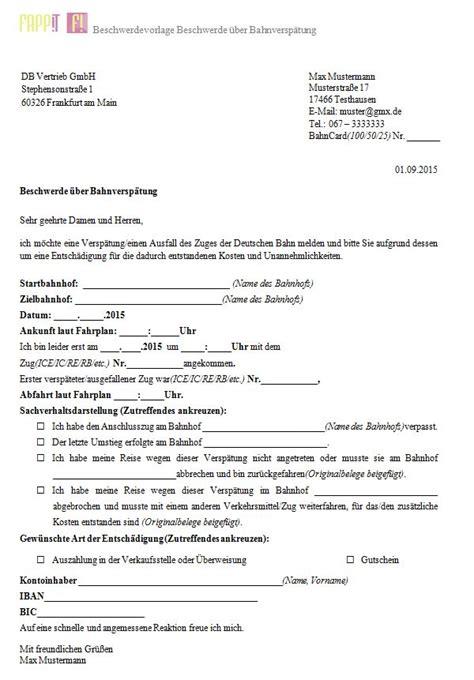 beschwerdebrief und mustervorlagen