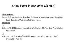 APA Format Book Citation Examples