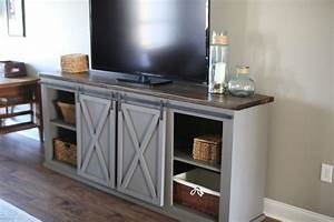 buy a custom made sliding barn door entertainment center With barn door style entertainment center