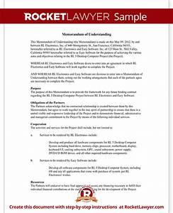 memorandum of understanding form mou template with sample With template for a memorandum of understanding