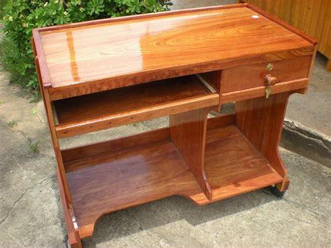 bureau informatique bois bureau informatique en bois de