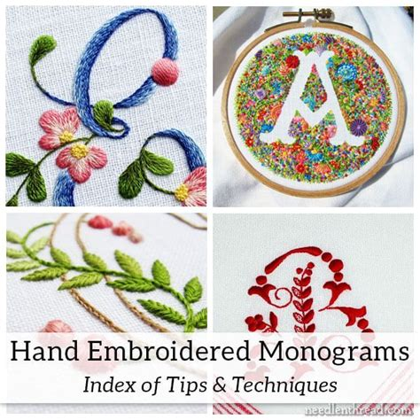embroidered monograms tips techniques index hand embroidery designs embroidery monogram
