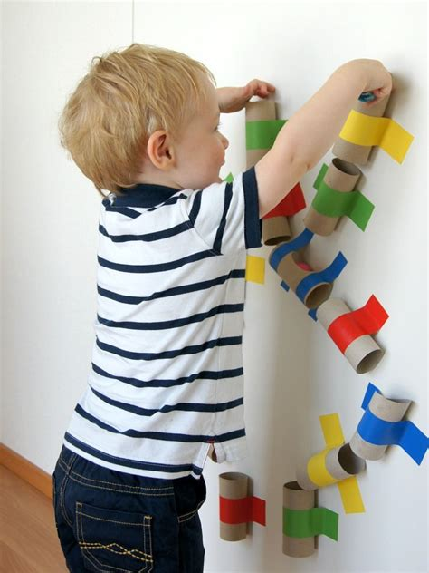 Bastelideen Mit Toilettenpapierrollen by Eine Farbenfrohe Kugelbahn Selber Machen Basteln