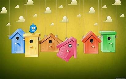 Cartoon Desktop Backgrounds Background Bird Cages Wallpapertag
