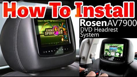 Rosen Av7900 Dvd Headrest Monitor Installation Video Www
