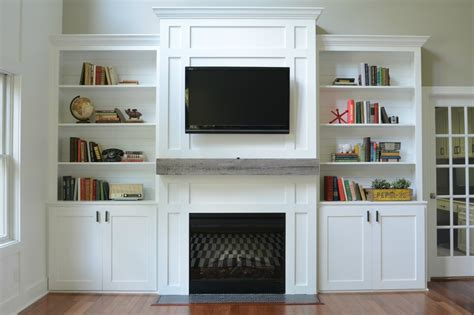 Built In Cabinets For Family Room by Living Room Built In Cabinets Decor And The Dog