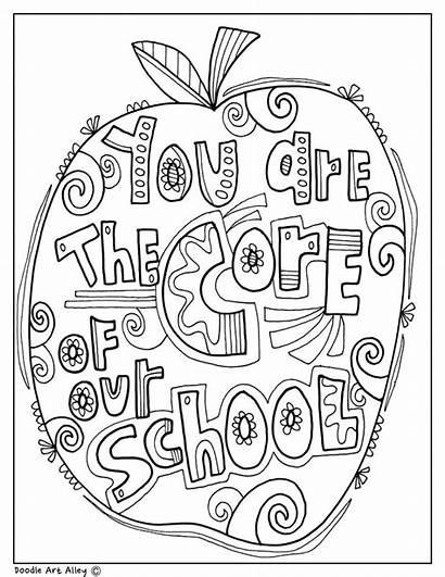 Principal Coloring Appreciation Pages Principals Teacher Classroomdoodles