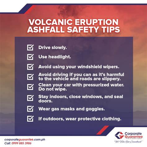 volcanic eruption ashfall safety tips corporate guarantee