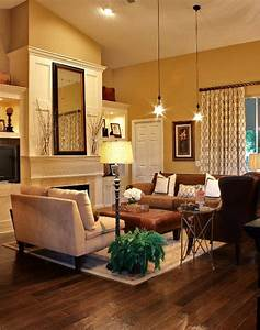 43 cozy and warm color schemes for your living room for Warm living room colors