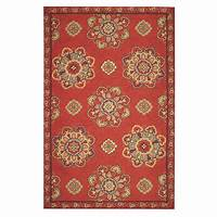 home depot rugs Home Decorators Collection Bianca Red 9 ft. x 12 ft. Area ...