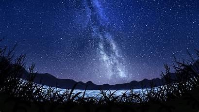 Sky Starry Milky Way Landscape Wallpapers 5k