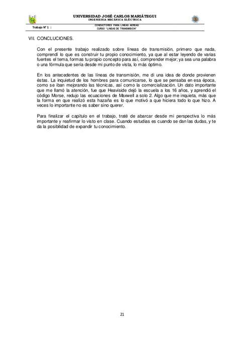 Conductores electricos para lineas de transmision