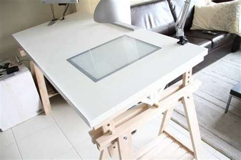 drafting table ikea hack ikea drawing table with lightbox home studio