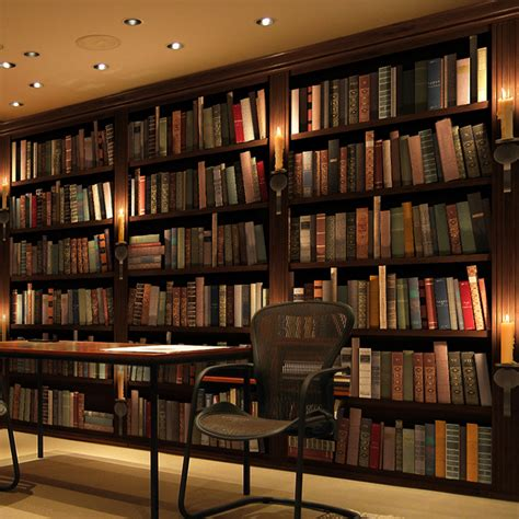 Wallpaper Bookcase Design by Find More Wallpapers Information About Custom Photo