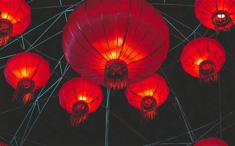 Download Wallpaper 3840x2400 Chinese Lanterns Lights Red