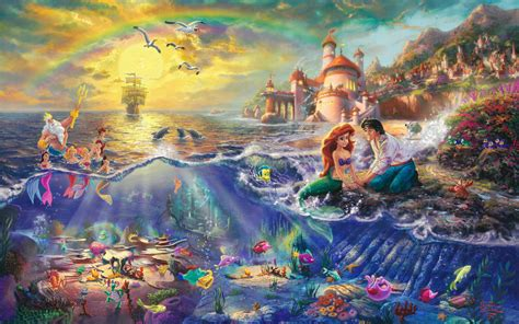 disney princess images kinkade quot disney dreams quot hd wallpaper and background photos 31528029