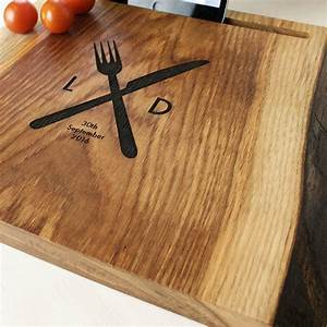 Personalised, Oak, Wood, Chopping, Board, And, I, Pad, Stand, By, Wood, Paper, Scissors