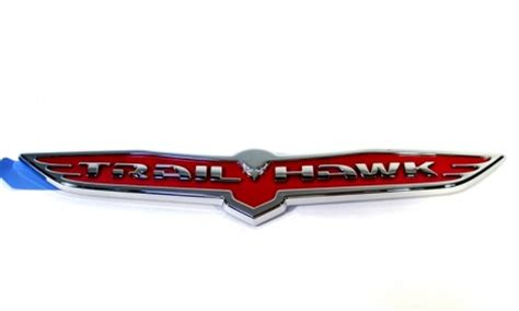 trailhawk jeep logo jeep cherokee emblem trailhawk part no 68196485ab