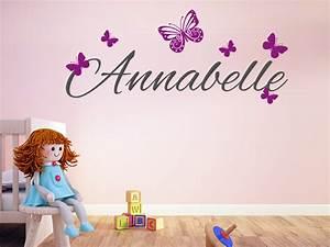 Wandtattoo Kinderzimmer Schmetterlinge : wandtattoo wunschname mit schmetterlingen bei ~ Sanjose-hotels-ca.com Haus und Dekorationen