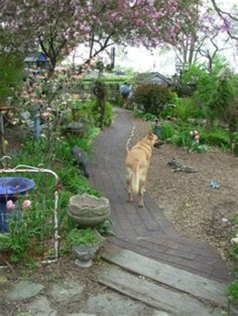 Roofing shingle path in my garden  Garden Pinterest