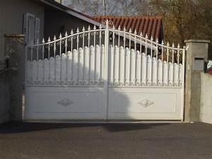 Portail En Bois : portail en fer design jv13 jornalagora ~ Premium-room.com Idées de Décoration