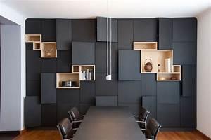 Grand Meuble De Rangement : tr s grand meuble de rangement mural gris anthracite ~ Teatrodelosmanantiales.com Idées de Décoration