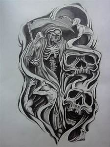 Skull Half Sleeve Tattoo Designs | half sleeve tattoo ...