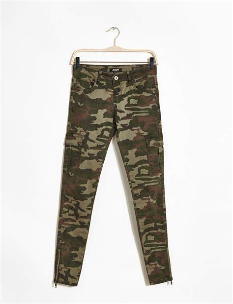 jennyfer siege pantalon camouflage kaki femme jennyfer