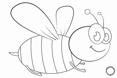 Gambar Mewarnai Kartun Lebah Anak Untuk Sketsa