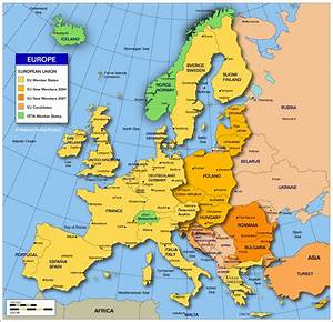 Political Map Of Europe With Capitals