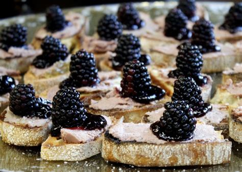 pâté blackberry canapés taste with the