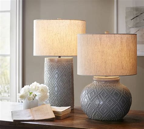 Laura Ashley Table Lamp Shades by Charlotte Ceramic Table Lamp Bases Pottery Barn