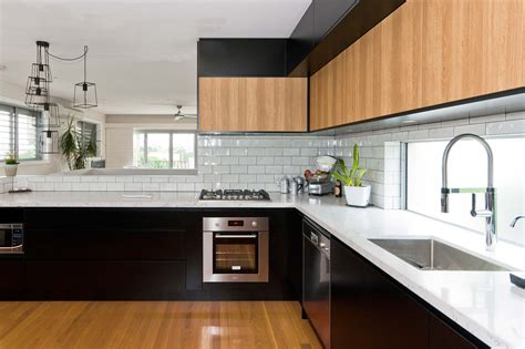 Black White Wood Kitchens by Church St Lilyfield Premier Kitchens