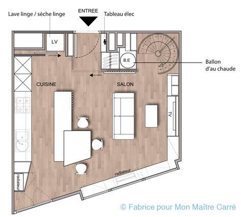 plan cuisine ouverte sur salon plan cuisine ouverte sur salon séjour agnay info