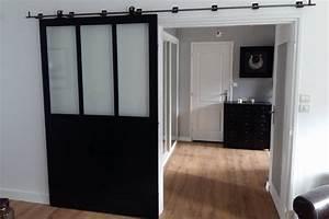 Fabriquer Sa Porte Coulissante Sur Mesure : verriere atelier acier ~ Premium-room.com Idées de Décoration